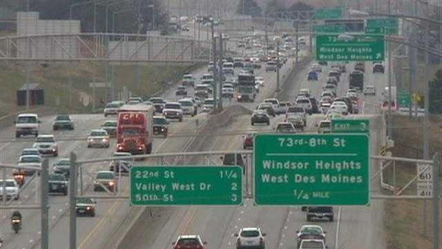 Traffic I-235 at 73rd