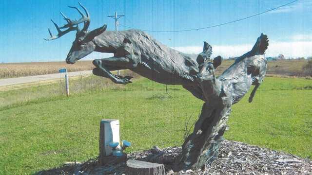 Deer statue stolen
