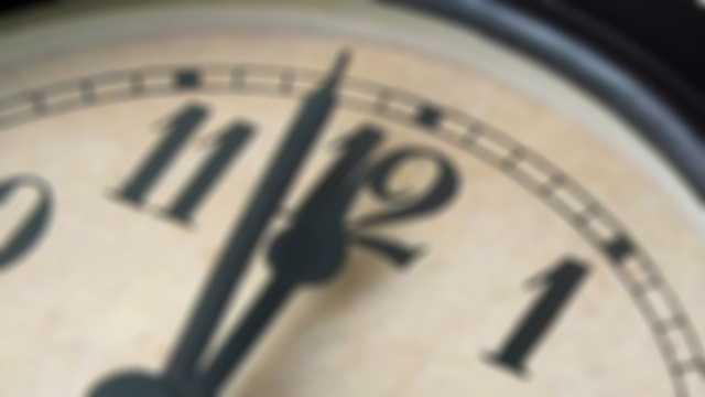 Clock midnight