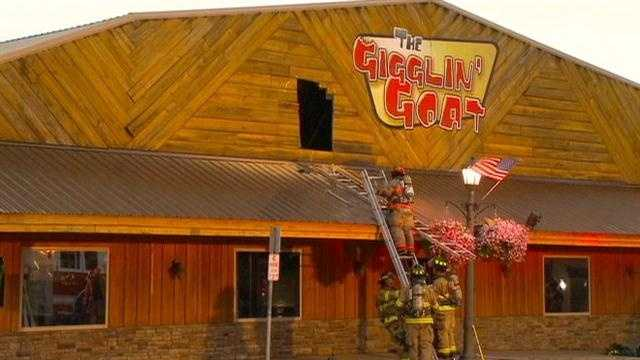 Fire roars through Gigglin Goat restaurant