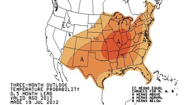 Fall forecast map