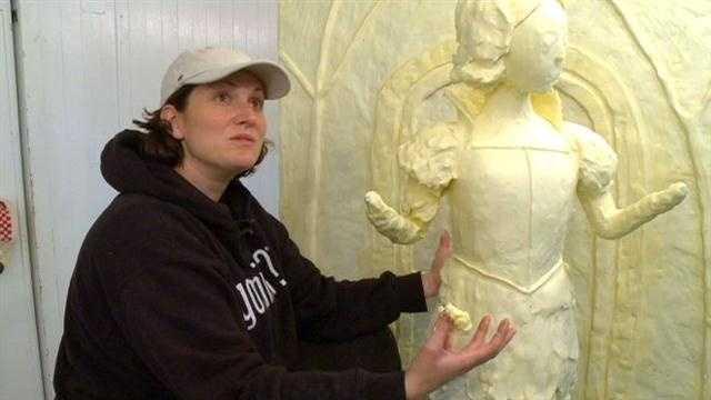 State Fair butter sculpture takes shape