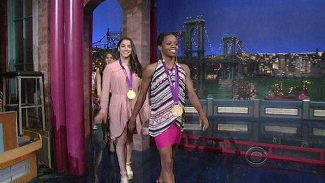 Gabby Douglas on Letterman