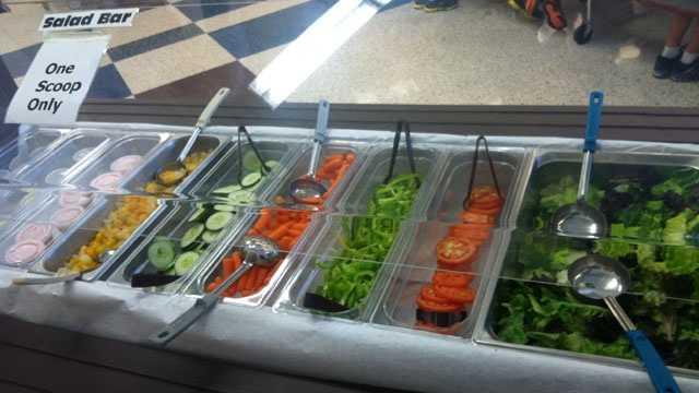 School lunch salad changes