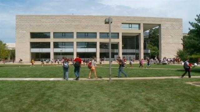 ISU campus library students