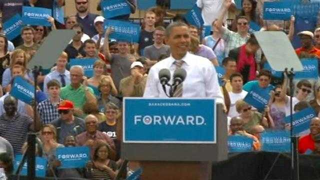 Obama on stage