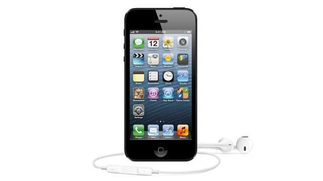 iPhone 5 with headphones