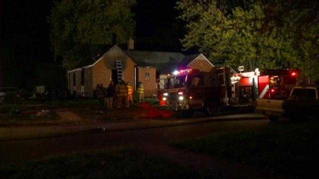2 people pulled from burning house