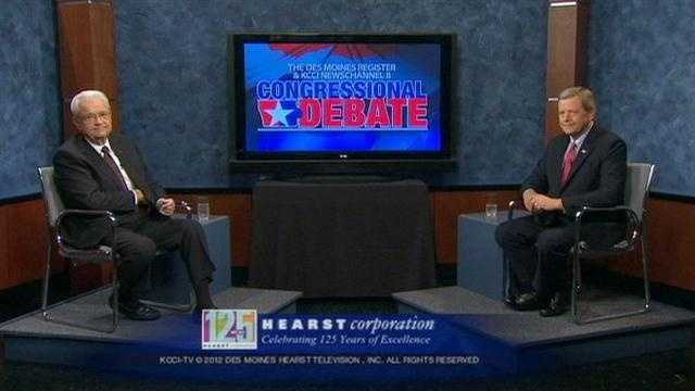 Boswell, Latham face campaign ads in debate