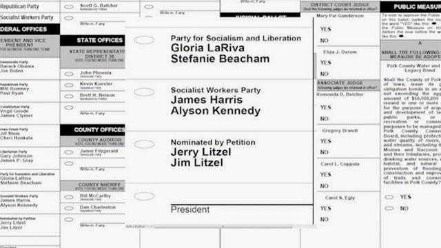 Ames man on ballot for president