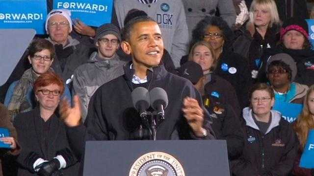 Obama makes final campaign stop in Des Moines