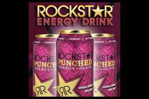Rockstar offers a juice and energy drink hybrid that packs 330 milligrams of caffeine in a 22 ounce bottle.