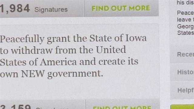 Petition for Iowa to secede from U.S. gaining signatures