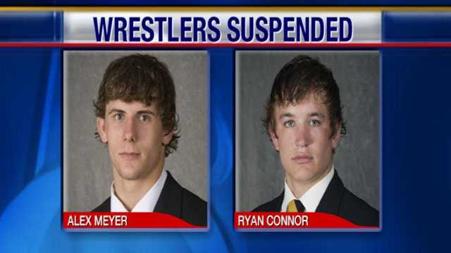 Wrestlers suspended rabbit hunt