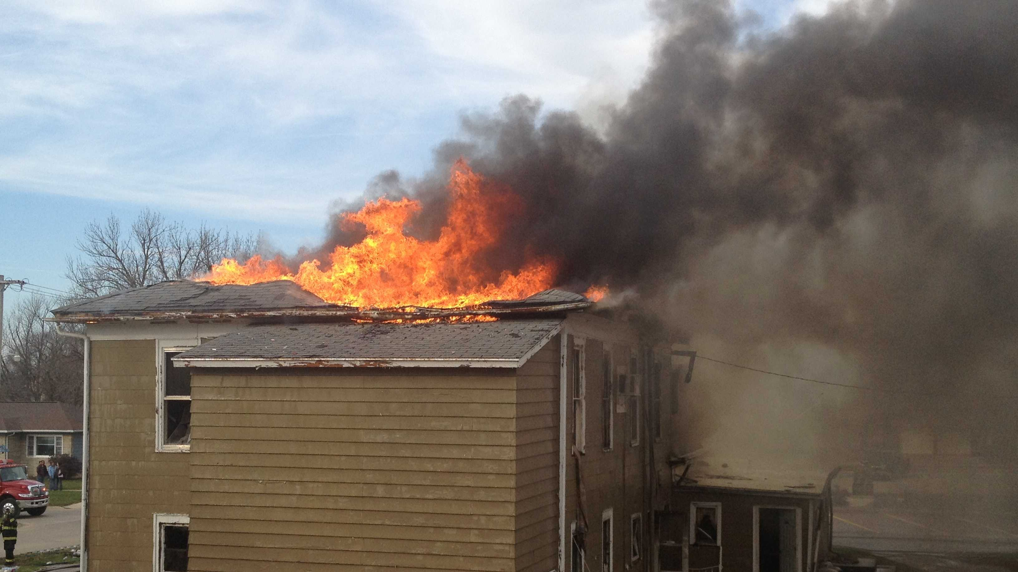 A fire destroyed an apartment building on Nov. 22.