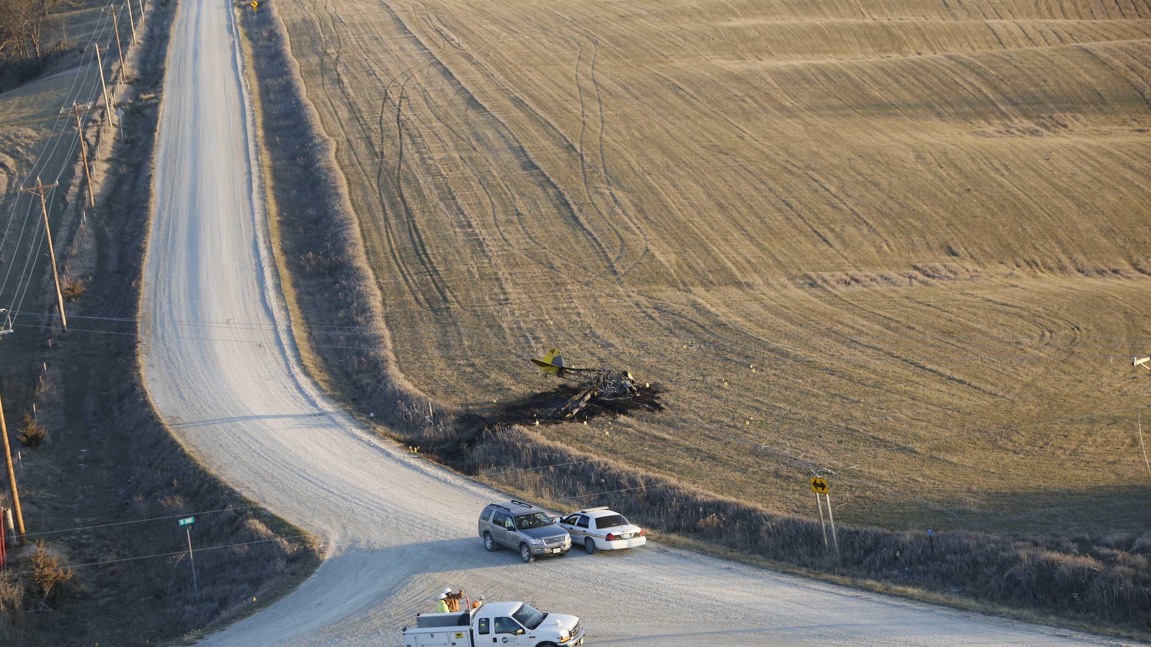 Plane crash new Clutier, Iowa
