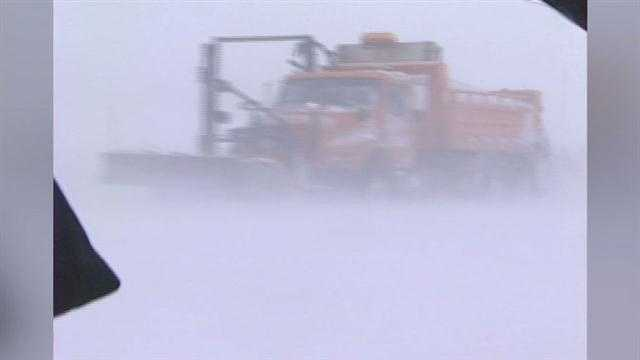 Snowstorm plow