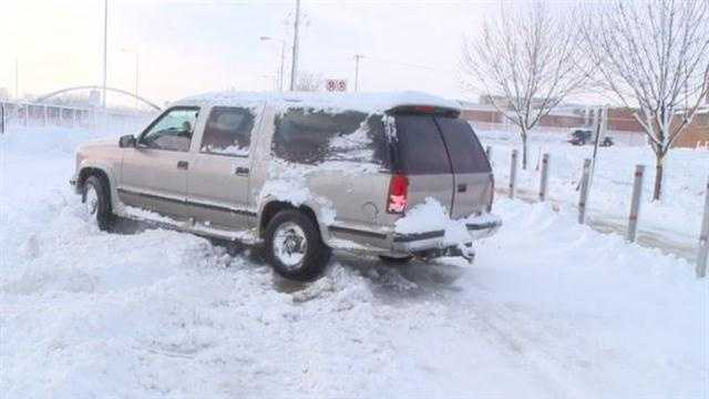 Iowans deal with big blizzard