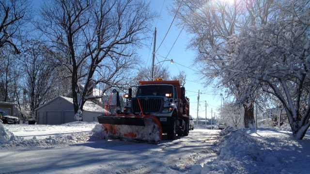 City snow plow