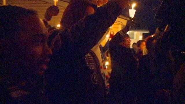 Vigil held for shooting victim who died on Christmas