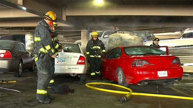 Parking garage fire