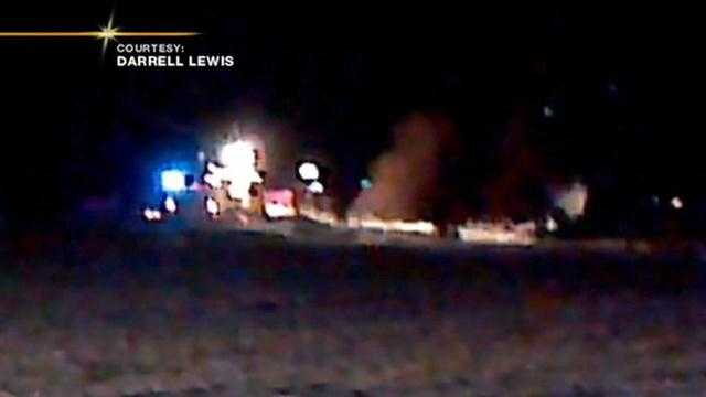 img-Witness shares video of medical helicopter crash