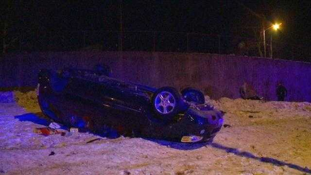 Ramp closed when SUV flips