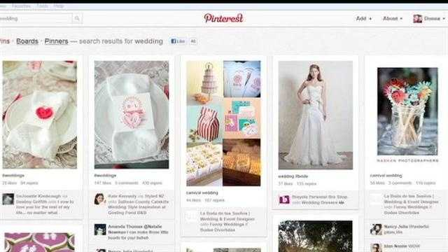 Brides search for inspiration on Pinterest