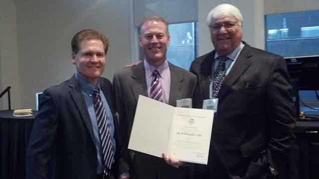 Left to right, KELO-TV Meteorologist Jay Trobec, KCCI-TV's John McLaughlin, Bob Baron, Sr. of Baron Services.