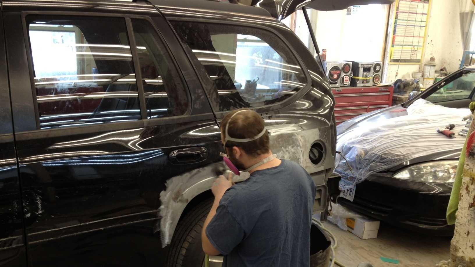 Crash auto body shop