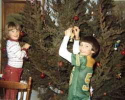 Christopher (7) and Sarah (4) - Christmas 1979