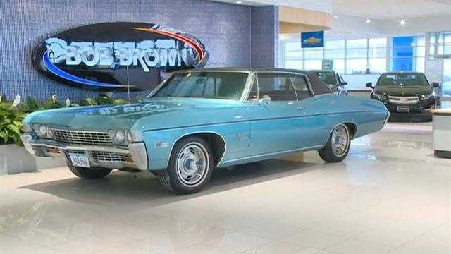 Classic car back on showroom floor after 45 years