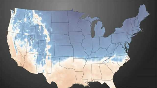 NOAA cold map