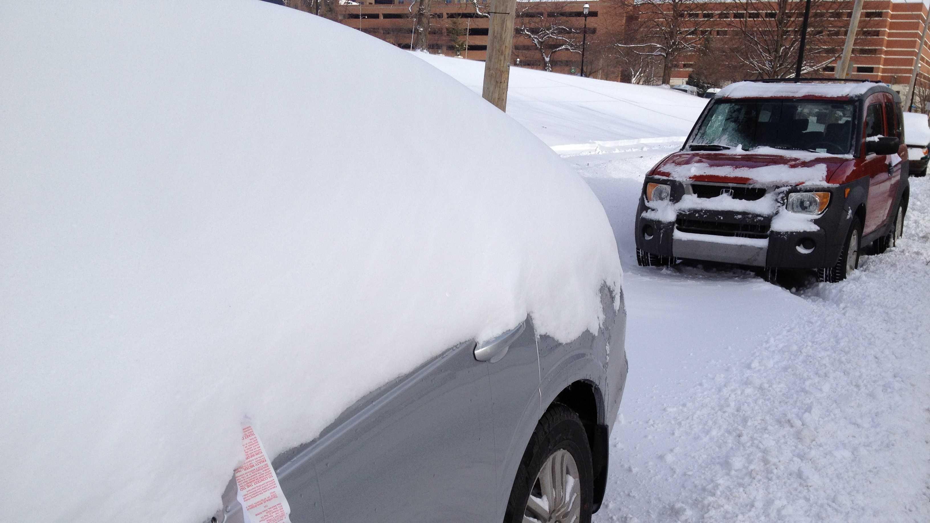 Snow parking ticket