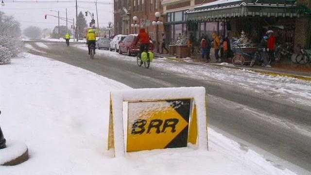 Bicyclists prepare for frigid February ride