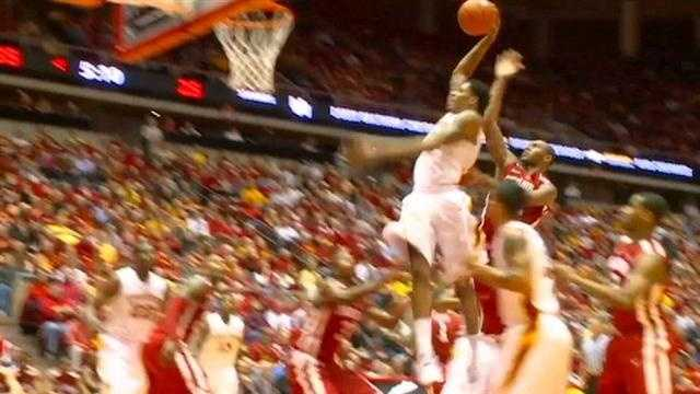 Will Clyburn dunks on Oklahoma