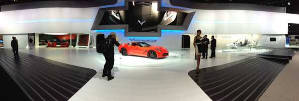 Chevy displayed the new Stingray.