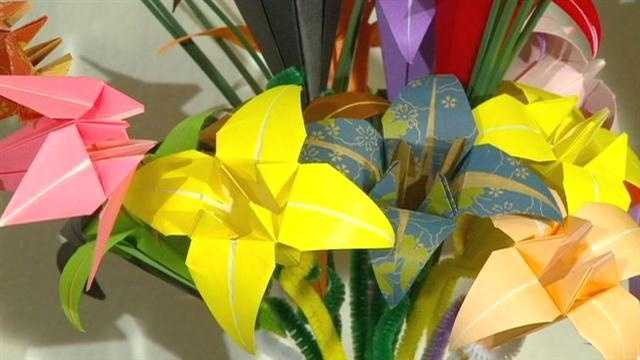 You can't go wrong with origami flowers