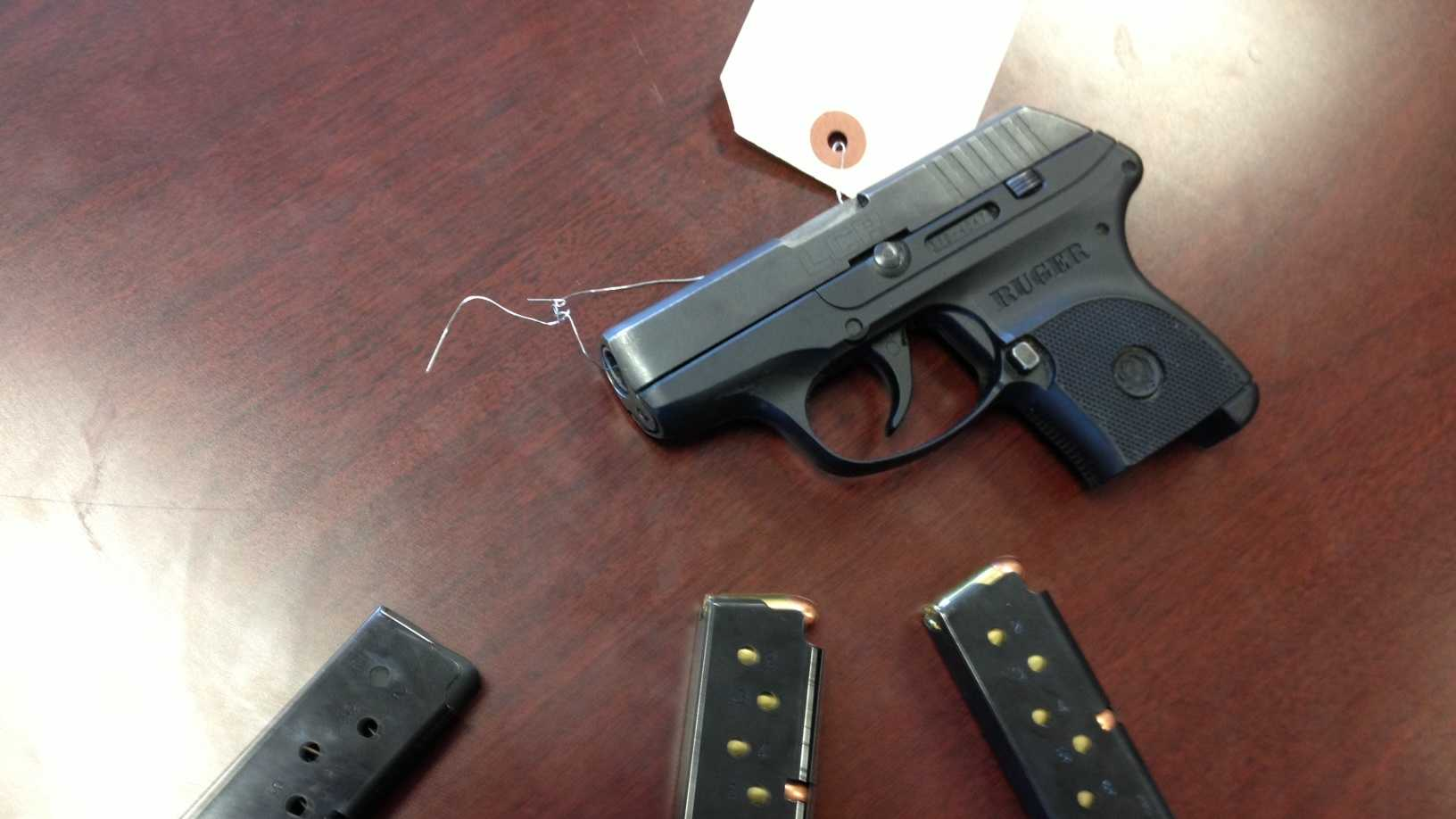 Gun seized during airport security check in Des Moines.