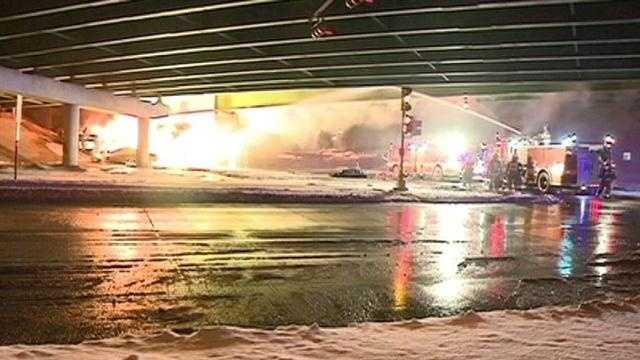 Waterloo firey truck crash