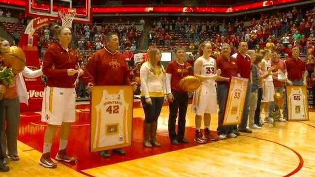 Cyclone women have emotional senior night