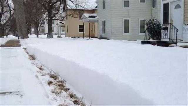 Town gets 10 inches from storm