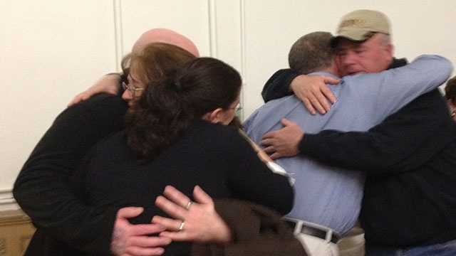 Lisa's family following mistrial being announced.