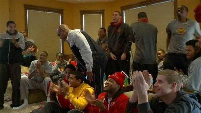 Cyclones celebrate NCAA Tournament bid