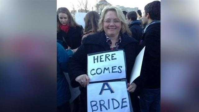 Iowans were among the thousands in Washington, D.C. to flock to the Supreme Court building for this week's same-sex marriage hearings.