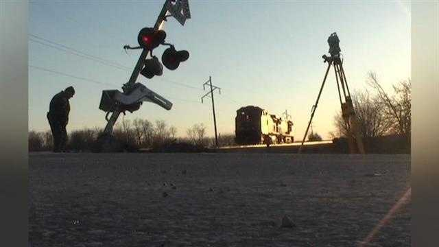 Two children died Monday in a collision at a train crossing in southeast Iowa.