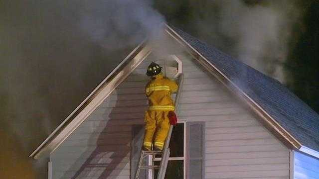 Father and son escape house fire