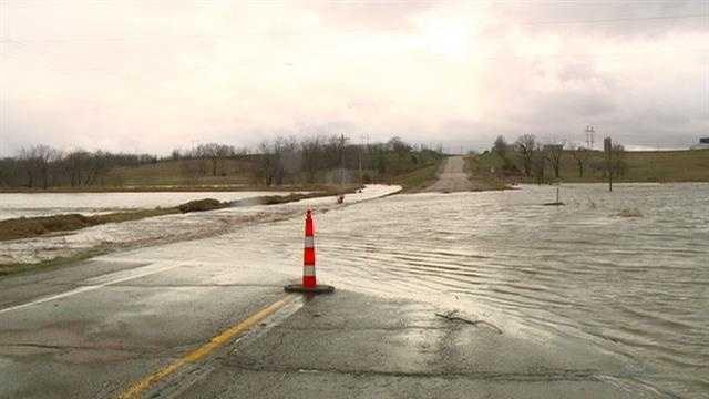 Torrential rainfall causes flood damage