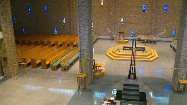 It's been almost seven months, but the St. Thomas Aquinas Church is finally like new again&#x3B; and at one time there was a large ring of soot around the entire church.