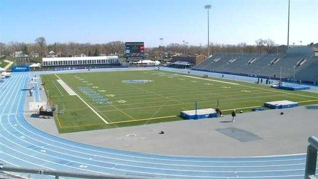 The Drake Relays are starting in Des Moines.